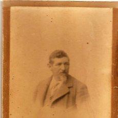 Fotografía antigua: MADRID - RETRATO DE HOMBRE - COMPAÑY FOTÓGRAFO - 11 X 15 CM - FECHADA 1900. Lote 109367051