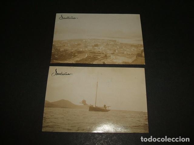 SANTOÑA CANTABRIA 2 FOTOGRAFIAS ALBUMINAS HACIA 1900 5,5 X 8 CMTS (Fotografía Antigua - Albúmina)