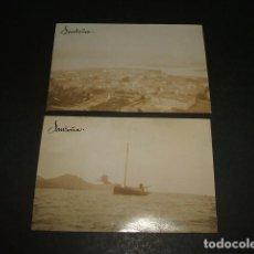 Fotografía antigua: SANTOÑA CANTABRIA 2 FOTOGRAFIAS ALBUMINAS HACIA 1900 5,5 X 8 CMTS. Lote 109426935