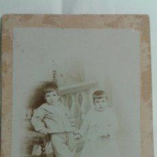 Fotografía antigua: FOTOGRAFIA DE ESTUDIO ANTIGUA. Lote 109485912