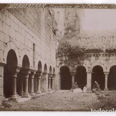 Fotografía antigua: VILABERTRAN, PROV. DE GIRONA. CLAUSTROS DE LA COLEGIATA. 1900'S. 12,5X17 CM.. Lote 109539895