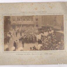 Fotografía antigua: LA PROCESIÓN DEL CORPUS, RAMÓN CASAS. 1890'S. SOPORTE: 22X32CM. FOTO: 13X22CM.. Lote 109540839
