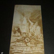 Fotografía antigua: CORDOBA FOTOGRAFIA CARTEL FERIAS 1903 5,5 X 12 CMTS. Lote 109815587