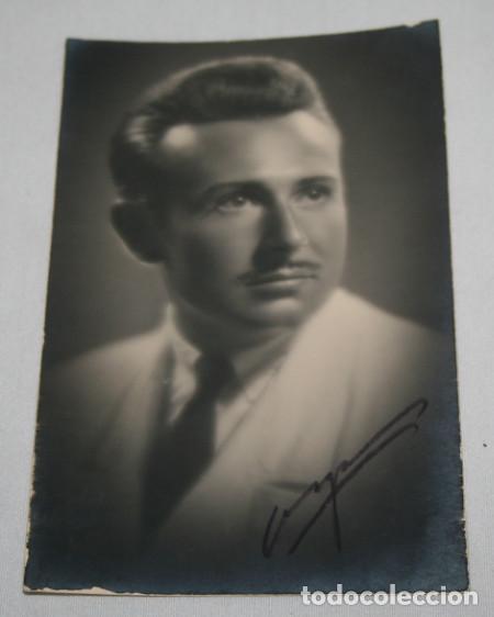 FOTOGRAFIA ANTIGUA, ARTISTA A IDENTIFICAR, PACO AÑO 1941 FIRMADA Y DEDICADA (Fotografía Antigua - Albúmina)