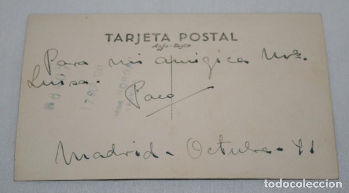 Fotografía antigua: FOTOGRAFIA ANTIGUA, ARTISTA A IDENTIFICAR, PACO AÑO 1941 FIRMADA Y DEDICADA - Foto 2 - 110284007