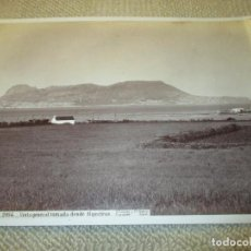 Fotografía antigua: GIBRALTAR. J. LAURENT Y CIA. 2094 VISTA GENERAL TOMADA DESDE ALGECIRAS 33,5X24,5 CM CIRCA 1870, RARA. Lote 110341951