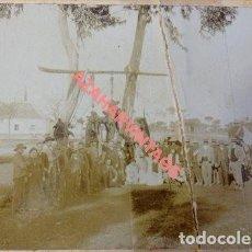 Fotografía antigua: SIGLO XIX, ESPECTACULAR ALBUMINA DE UNA CACERIA DE OSOS, RARISIMA, LEER MEDIDAS. Lote 110633295