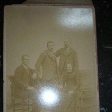 Fotografía antigua: GRUPO FAMILIAR--- AUDOUARD Y Cª BARCELONA 25 CM X 17 CM . Lote 110685103