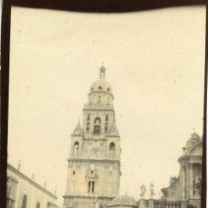 Fotografía antigua: MURCIA. TORRE DE LA CATEDRAL. DÉCADA DE 1890 POR VIAJERO FRANCÉS.. Lote 111377295