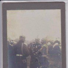 Fotografía antigua: 1º GUERRA MUNDIAL : FOTO DEL KAISER GUILLERMO CON UNIFORME CABALLERIA Y CASCO PINCHO CON GENERALES. Lote 111448631