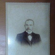 Fotografía antigua: FOTOGRAFIA DE CABALLERO FOTOGRAFO SANTOS CASTILLO BUENOS AIRES 1899. Lote 111671515