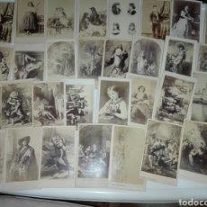 Fotografía antigua: 49 FOTOS ANTIGUAS DE ESTUDIO ALBUMINA MUCHAS SELLADAS.. Lote 111741442