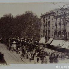 Fotografía antigua: FOTOGRAFÍA RAMBLA DE SAN JOSÉ BARCELONA SIGLO XIX. Lote 112006075