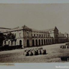 Fotografía antigua: FOTOGRAFÍA FERRO CARRIL DE ZARAGOZA BARCELONA SIGLO XIX. Lote 112006095