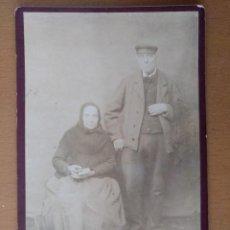 Fotografía antigua: FOTO DE ESTUDIO PAREJA DE ANCIANOS PROBABLEMENTE. PALAFRUGELL (GIRONA) (1900). Lote 112210155