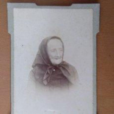 Fotografía antigua: FOTO DE ESTUDIO ANCIANA J. FERRER MASSANET. PALAFRUGELL (GIRONA) (1900). Lote 112214883