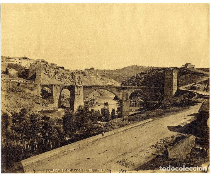 ALGUACIL PUENTE DE SAN MARTÍN TOLEDO (Fotografía Antigua - Albúmina)
