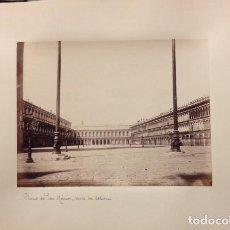 Fotografía antigua: FOTOGRAFIA PLAZA DE SAN MARCOS, VENECIA, SIGLO XIX, ALBUMINA. Lote 112543147