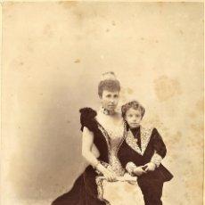 Fotografía antigua: ALFONSO XIII Y LA REINA MARIA CRISTINA. Lote 112913515