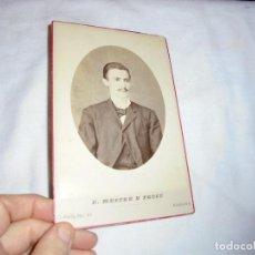 Fotografía antigua: ANTIGUA FOTOGRAFIA CABALLERO ESCRITA Y FECHADA 27/1881.FOTOGRAFO MESTRE Y PETIT HABANA. Lote 113164687