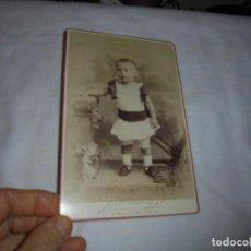 Fotografía antigua: ANTIGUA FOTOGRAFIA NIÑA.J.A.SUARZ FOTOGRAFO DE CAMARA DEL REY ALFONSO XII HABANA. Lote 113165147
