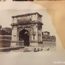 Fotografía antigua: FOTOGRAFIA DEL ARCO DI TITO, SIGLO XIX ROMA.. Lote 113180519