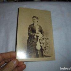Fotografía antigua: ANTIGUA FOTOGRAFIA DAMA .FOTOGRAFO .A.COHNER HABANA PARIS. Lote 113188735