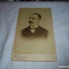 Fotografía antigua: ANTIGUA FOTOGRAFIA CABALLERO.FOTOGRAFO.F.CASTELLOTE HABANA. Lote 113190043