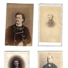 Fotografía antigua: ANTIGUO LOTE DE 4 FOTOGRAFIAS DE CABALLEROS POSANDO . Lote 113279543