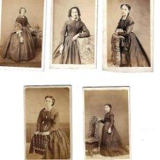 Fotografía antigua: FOTOGRAFIAS ANTIGUO LOTE DE 5 FOTOGRAFIAS DE MUJERES DE DIFERENTES FOTOGRAFOS. Lote 113279639