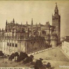 Fotografía antigua: LAURENT 268 SEVILLA VISTA DE LA CATEDRAL DESDE EL ALCÁZAR. Lote 113517959
