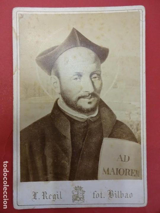 Fotografía antigua: SAN IGNACIO DE LOYOLA. Fundador Cía de Jesús. Albúmina 16 x 11 ctms. L. Regil BILBAO - Foto 2 - 113596787