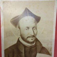 Fotografía antigua: SAN IGNACIO DE LOYOLA. FUNDADOR CÍA DE JESÚS. ALBÚMINA 16 X 11 CTMS. L. REGIL BILBAO. Lote 113596787