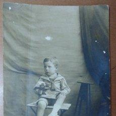 Fotografía antigua: RETRATO DE NIÑO VESTIDO DE MARINERO. 1901 LA BISBAL? GIRONA . Lote 113677719