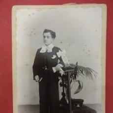 Fotografía antigua: FOTO NIÑO DE COMUNION. ESTUDIO NYSSEN. BARCELONA. 16 X 10 CTMS. Lote 113849999
