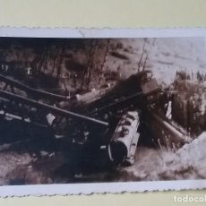 Fotografía antigua - Accidente Ferroviario,Choque de tren.Foto muy antigua original. - 113864443