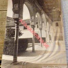 Fotografía antigua: GRANADA, SIGLO XIX, ALHAMBRA, GALERIA DEL PATIO DE LOS ARRAYANES, GARZON Nº 209, 155X205MM. Lote 114235567