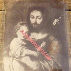Fotografía antigua: SEVILLA, SIGLO XIX, ALBUMINA SAN JOSE DE MURILLO, ANTIGUO PALACIO DE SAN TELMO, 100X135MM. Lote 114235971