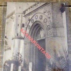 Fotografía antigua: SEVILLA, SIGLO XIX, ALBUMINA PORTADA DE SANTA PAULA, 100X135MM. Lote 114236179