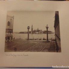 Fotografía antigua: FOTOGRAFIA ISLA DE SAN JORGE VENECIA SIGLO XIX. Lote 114458807