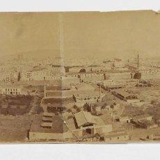 Fotografía antigua: VISTA DE BARCELONA DESDE MONTJUIC, 1890'S. 20X43 CM.. Lote 114522359