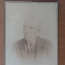 Fotografía antigua: RETRATO DE UN ANCIANO FOTOGRAFO J. FERRER MASSANET PALAFRUGUELL (GIRONA) PRINCIPIOS SIGLO XX. Lote 114790267