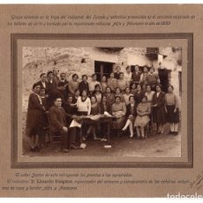 Fotografía antigua: ALBÚMINA. VEGA DEL VALCARCEL. LEON. 1930 - FOTO M. BARRIO. BARCO DE VALDEORRAS 20,5 X 25,5 CM. Lote 115190975