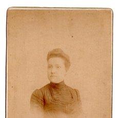 Fotografía antigua: FOTO CABINET - ESTUDIO FOTOGRÁFICO. JOSÉ VICENTE OLIVARES. MAYOR, 11. CARTAGENA, MURCIA.. Lote 115576699