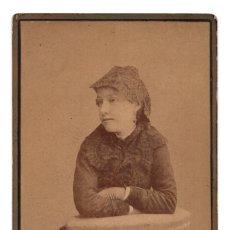 Fotografía antigua: FOTO CABINET - ESTUDIO FOTOGRÁFICO. JOSÉ VICENTE OLIVARES. MAYOR, 11. CARTAGENA, MURCIA.. Lote 115577239