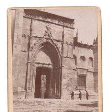 Fotografía antigua: ALBUMINA - PALENCIA.- PUERTA DE LOS NOVIOS 12 X 9 CM. Lote 115577767