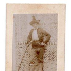 Fotografía antigua: ALBUMINA - MARIANO FERNÁNDEZ PRINCIPE GITANO, MODELO FORTUNY ALHAMBRA GRANADA. Lote 115577931