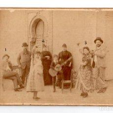 Fotografía antigua: ALBUMINA BAILE FLAMENCO - SEVILLANAS - ANTONIO GONZALEZ FOTOGRAFO 16,5 X 10,5 CM. Lote 115580395