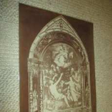Fotografía antigua: LUIS DE VARGAS Nº 1870. FAMEUX RETABLE DE LA GAMBA, CATEDRAL DE SEVILLA. J. LAURENT, 21X29,5 CM. Lote 116273987