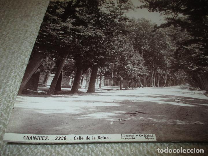 Fotografía antigua: Aranjuez. 2236. Calle de la Reina. J. Laurent. 34x25 cm. - Foto 2 - 116291371